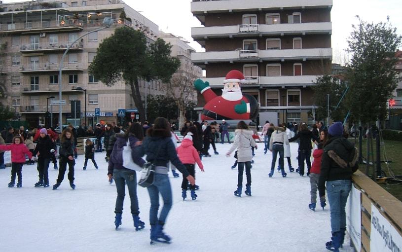 pattinaggio in piazza