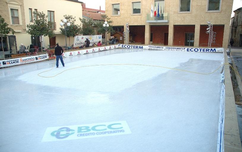 realizzazione ghiaccio su pista
